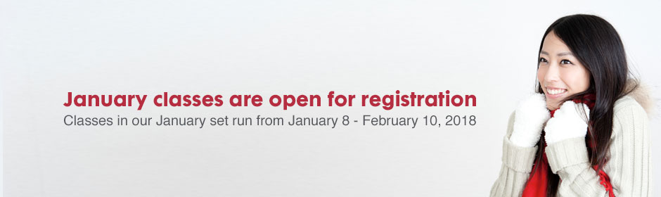 January classes are open for registration